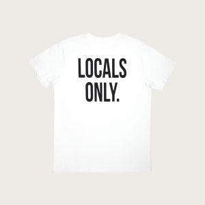 """Retro Maglietta con scritta """"Locals Only"""" Costa Est"""