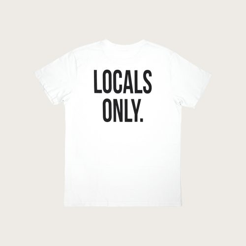 t-shirt man locals only white back