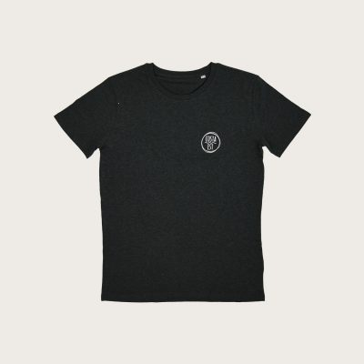"""Fronte T-Shirt Uomo Grigia """"Surf Rider 1984"""" Costa Est"""