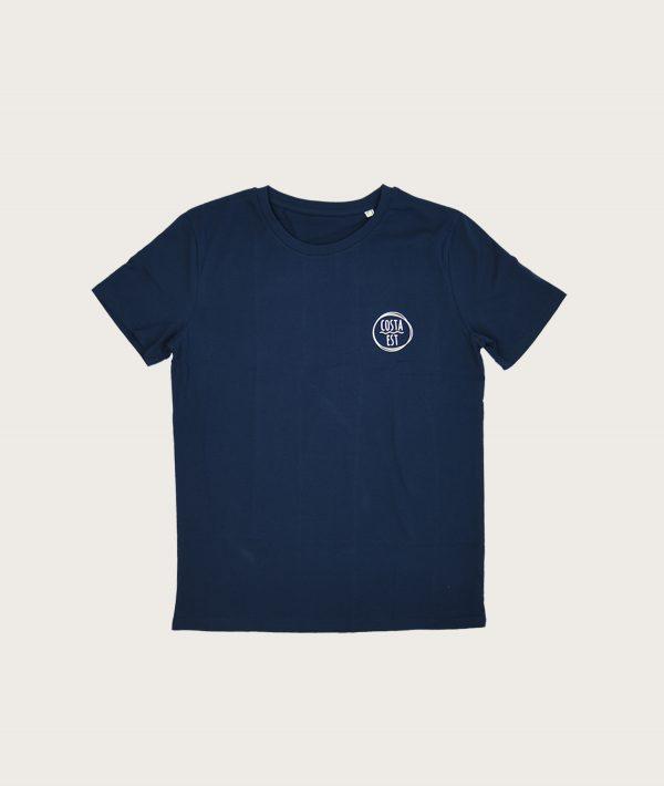 """Fronte T-Shirt Uomo Blu Navy """"Surf Rider 1984"""" Costa Est"""