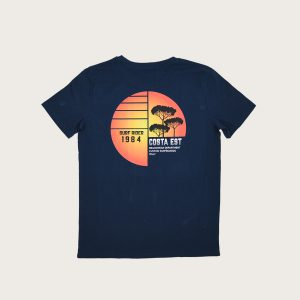 "Retro T-Shirt Blu Navy ""Surf Rider 1984"" Costa Est"