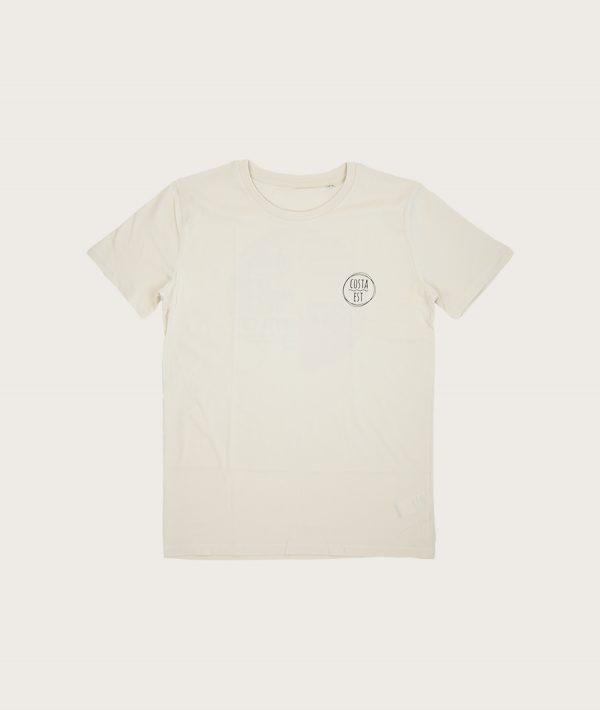 """Fronte T-Shirt Uomo Bianco Vintage """"Surf Rider 1984"""" Costa Est"""
