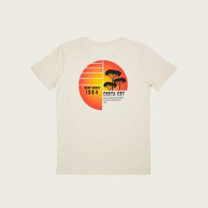 "Retro T-Shirt Uomo Bianco Vintage ""Surf Rider 1984"" Costa Est"