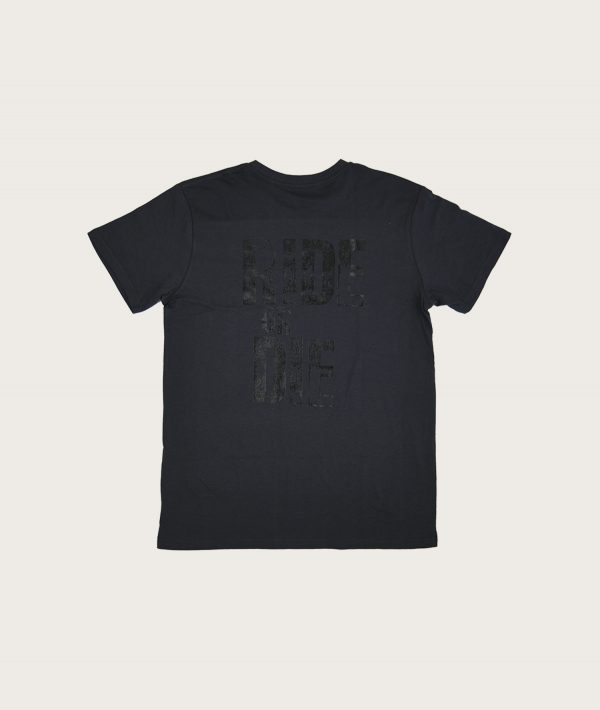 "Retro T-shirt con scritta ""Ride or Die"" Grigio Antracite Costa Est"