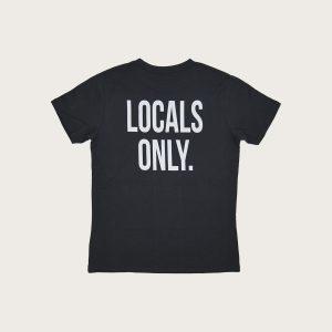 """Retro Maglietta Grigia scritta """"Locals Only"""" Costa Est"""