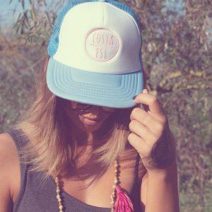 Berretto con visiera azzuro con logo Costa Est Beachwear