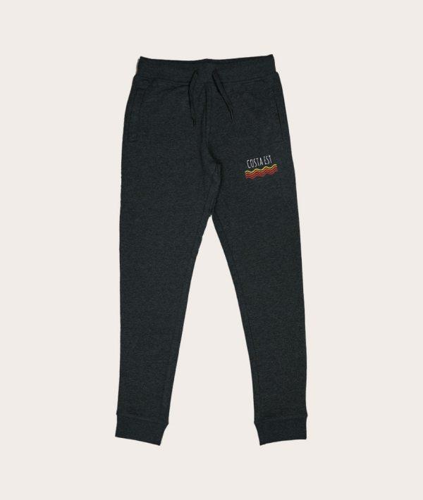 Pantaloni tuta grigi con logo vintage Costa Est