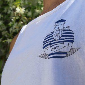 Canotta marinaio indossato